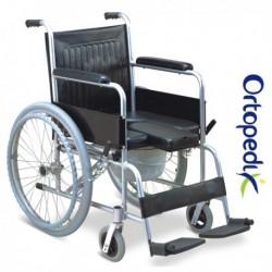 Carucior/scaun WC din aluminiu cu roti FS609LU