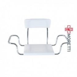 Scaun pentru vana din plastic cu spatar MRS925