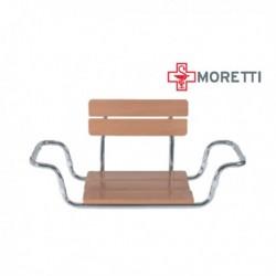 Scaun din lemn pentru vana cu spatar MRS922