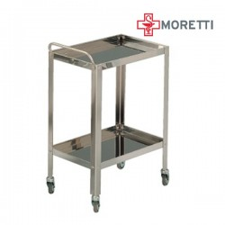 Carucior rastel din inox pentru instrumentar MORETTI - MMO233