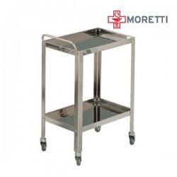 Carucior rastel din inox pentru instrumentar MORETTI - MMO234