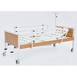 Pat de spital mecanic cu 2 manivele - Simple 4