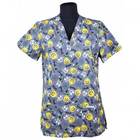 Bluza medicala imprimata, editie speciala de Halloween - Lotus