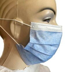 Masca medicala 3 straturi, 3 pliuri, tip IIR, set de 50 buc.