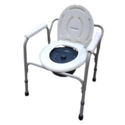Scaun cu WC de camera, inaltime reglabila, din otel - CMB-810