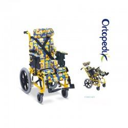 Carucior transport pacienti multipozabil copii - 75 kg - FS985LBGY