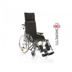 Fotoliu rulant pliabil cu actionare manuala, structura de aluminiu, vopsit - 100 Kg - MCP810