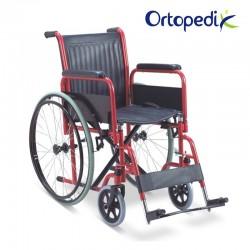 Scaun cu rotile pentru transport pacienti, antrenare manuala - 100 kg - FS903-43/46