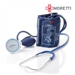 Tensiometru mecanic MORETTI cu manometru la para Cromat si stetoscop - MDM346